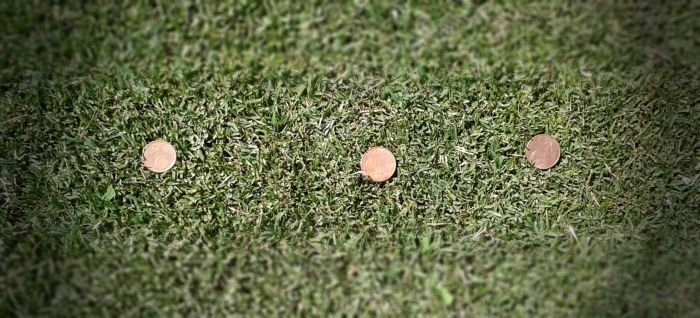 Coin Golf Chipping Drill