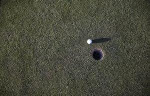 golf ball hole green