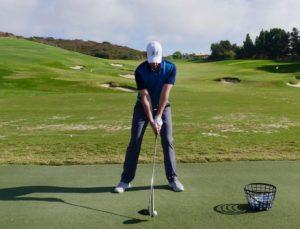 Improper golf stance
