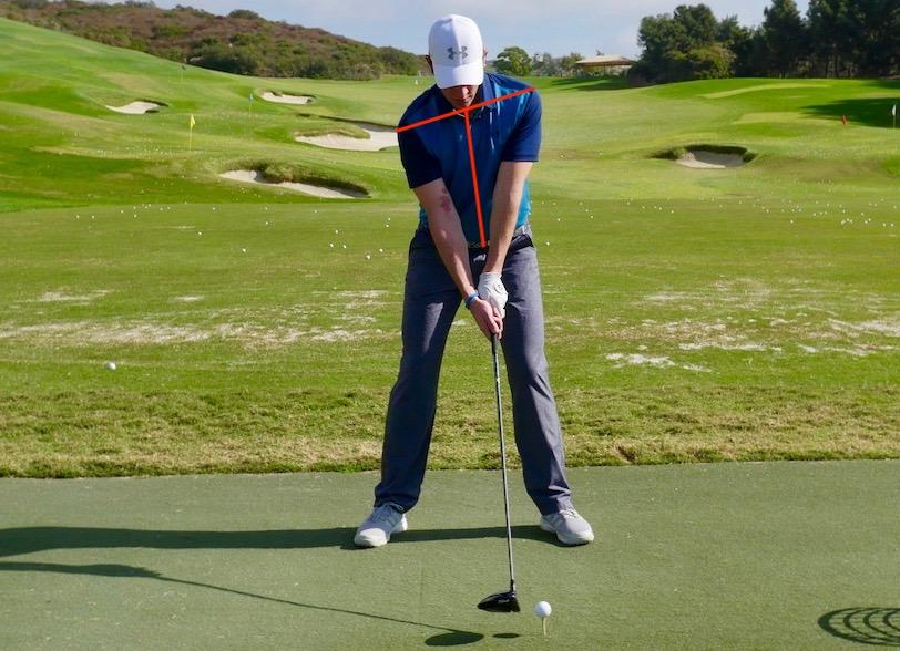 Proper spine tilt for driver distance