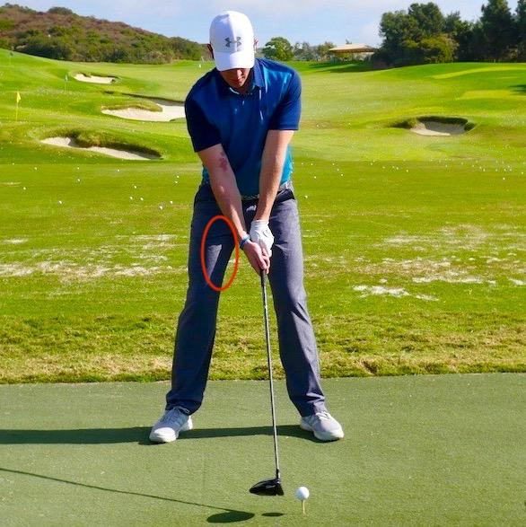 Golf Driving Tip Back Foot Weight