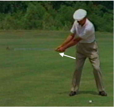 Golf Swing Pull Down With Left Hand