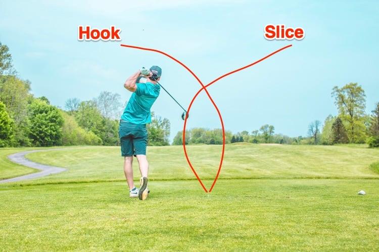 golf slice vs golf hook